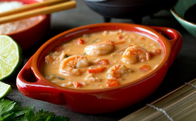 Receita de sopa de peixe e camarão fácil