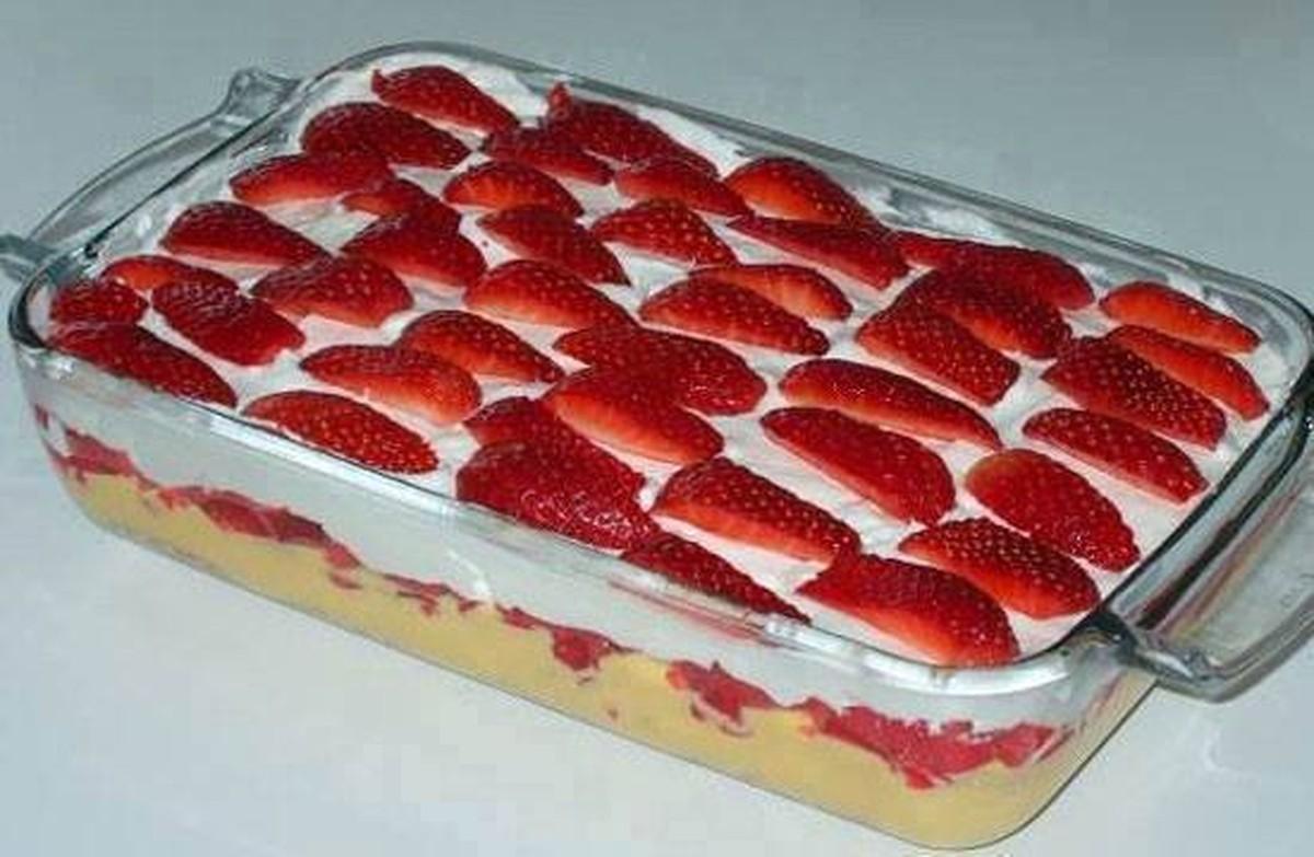 Receita de torta gelada de morango