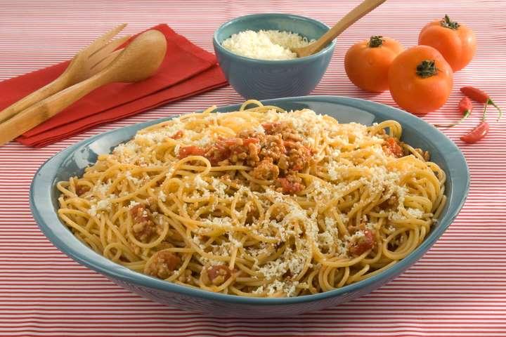 Receita de um delicioso espaguete à mineira