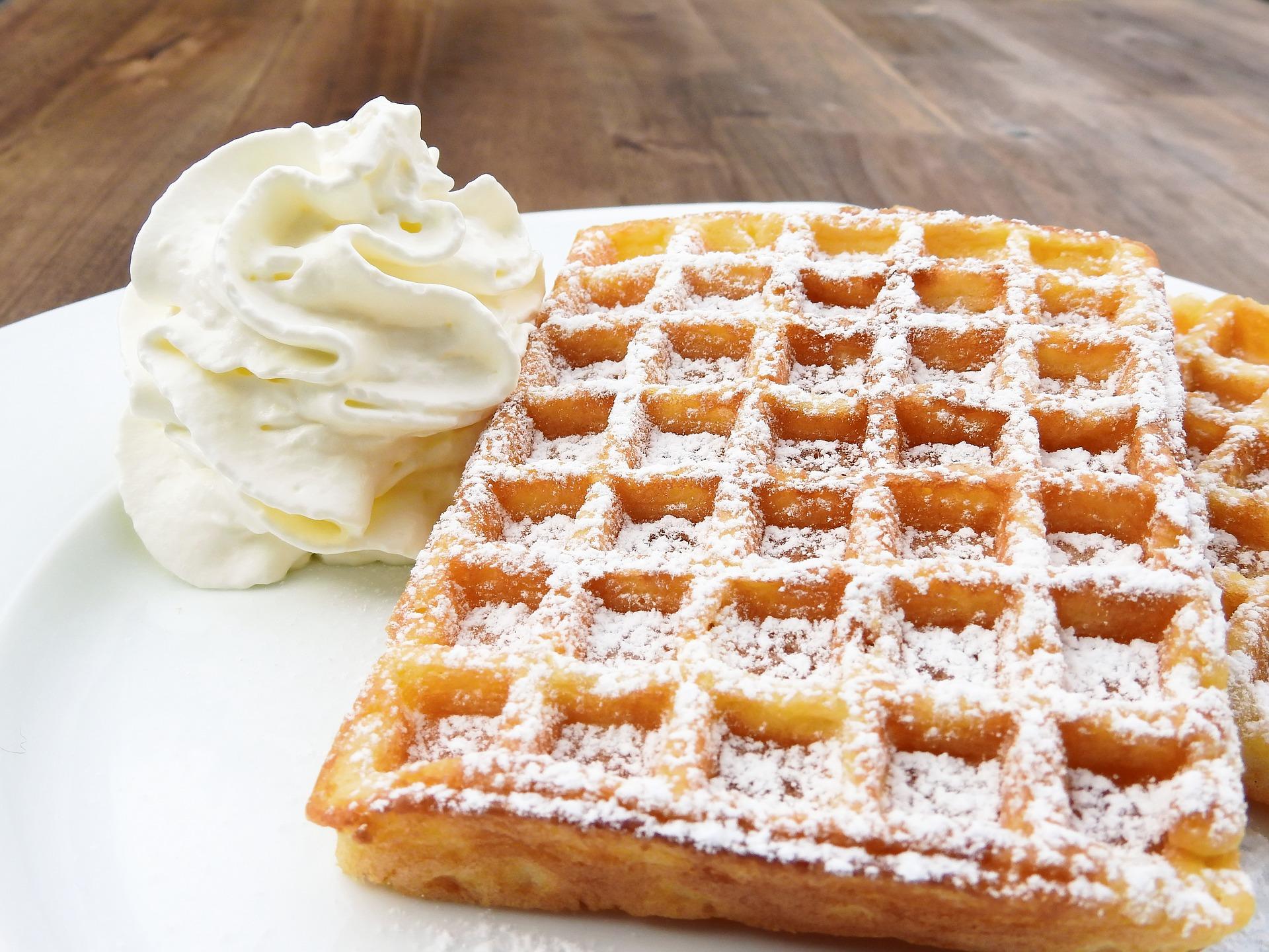 Receita de waffle de liquidificador caseiro delicioso