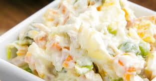 Salada de maionese deliciosa e aprenda a preparar essa delícia