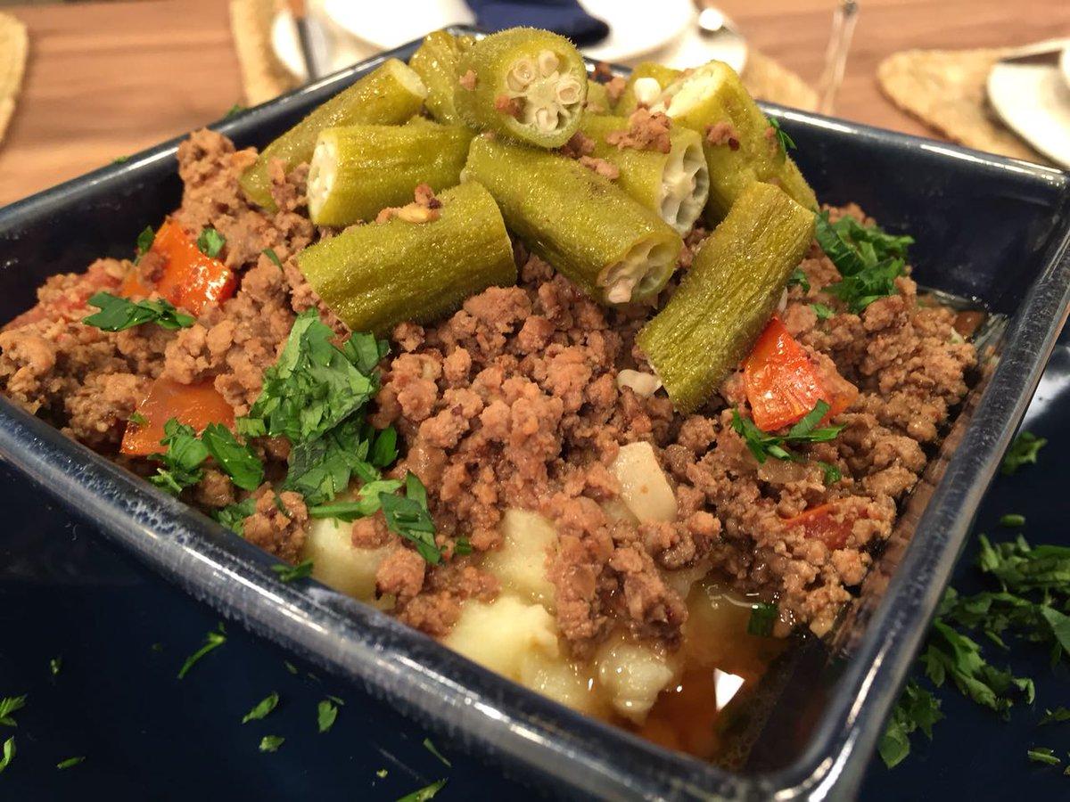 Carne com quiabo e batata