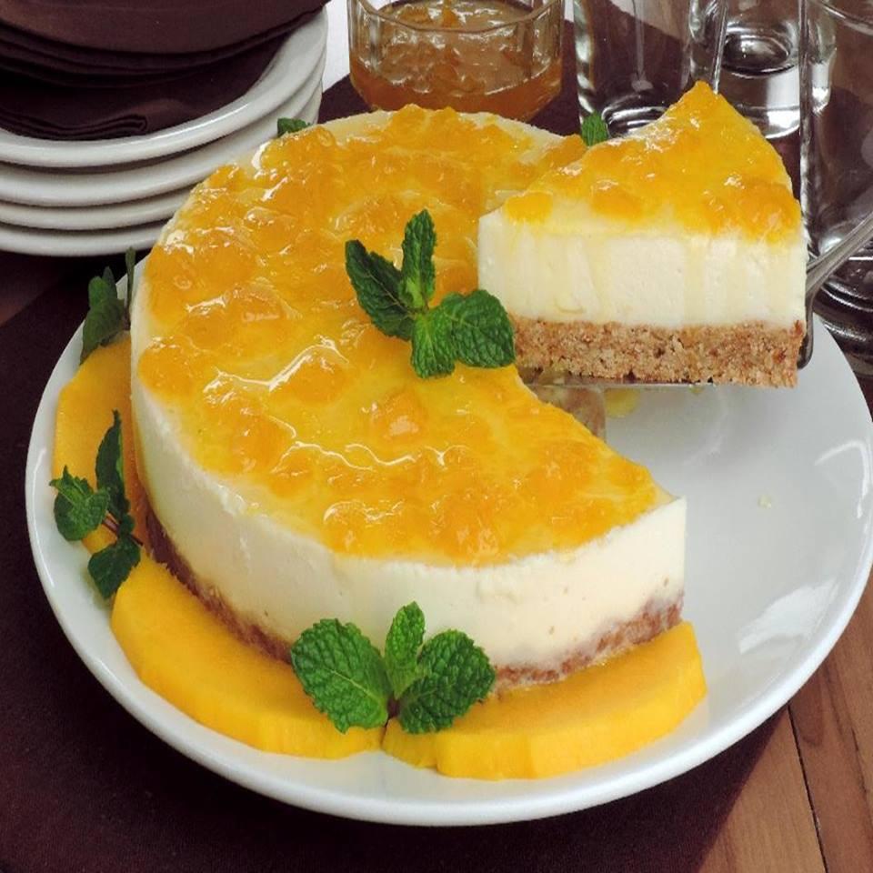 Cheesecake de manga com gostinho de quero mais