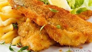 Filé de peixe empanado delicioso
