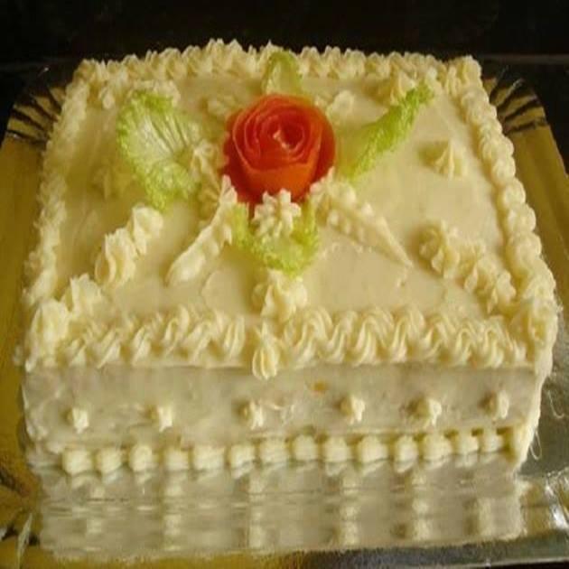 Glacê salgado para decoração de tortas e bolos em geral