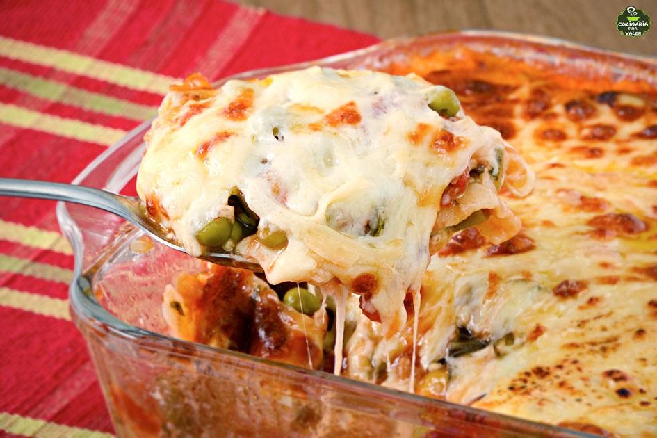 Lasanha vegetariana simples deliciosa e muito leve