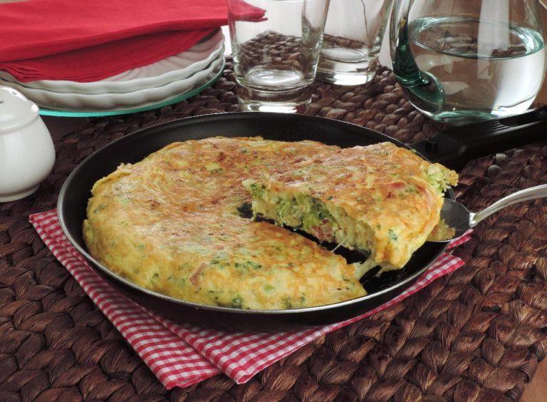 Omelete de brócolis pratico