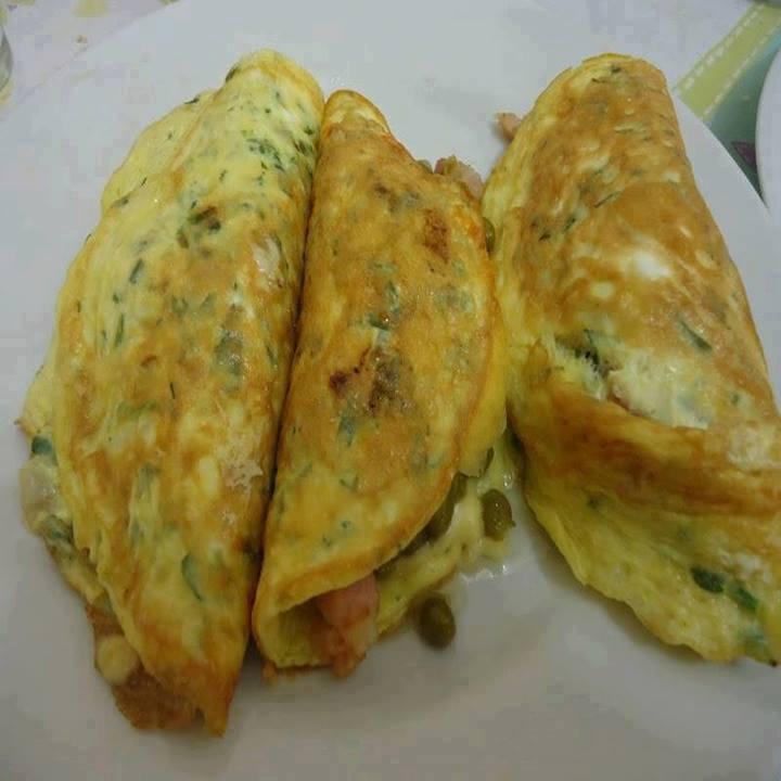 Omelete recheada deliciosa