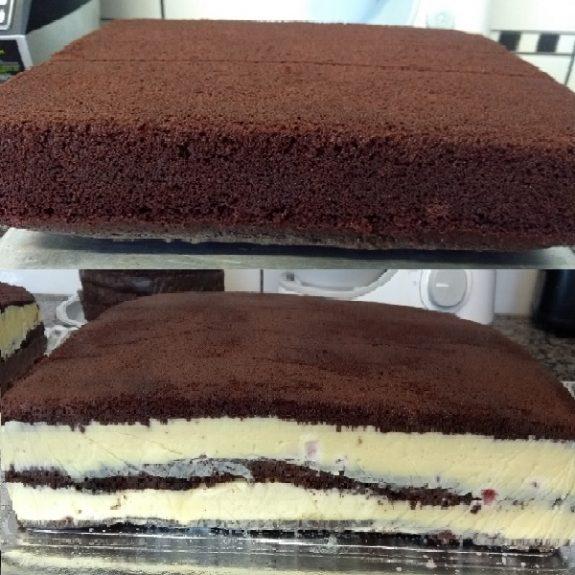 Pão de ló de chocolate profissional perfeito para aquela festa
