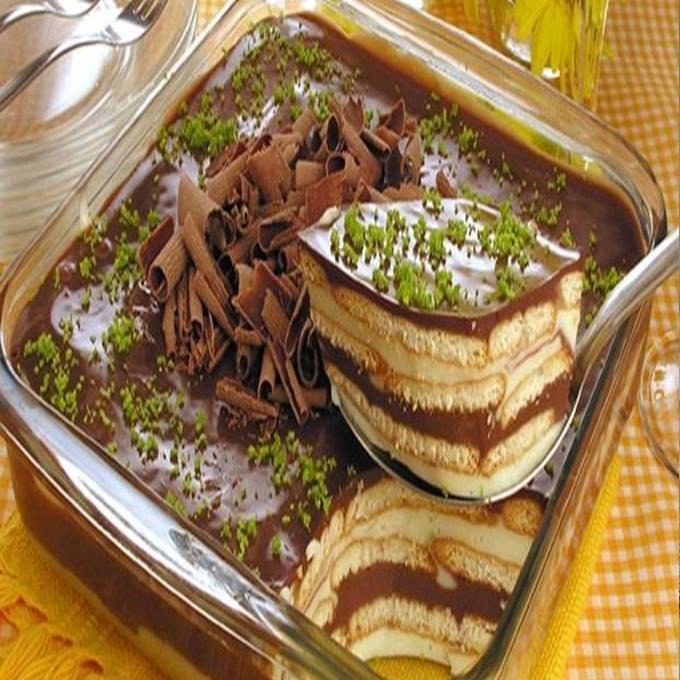 Pavê de limão e chocolate maravilhoso