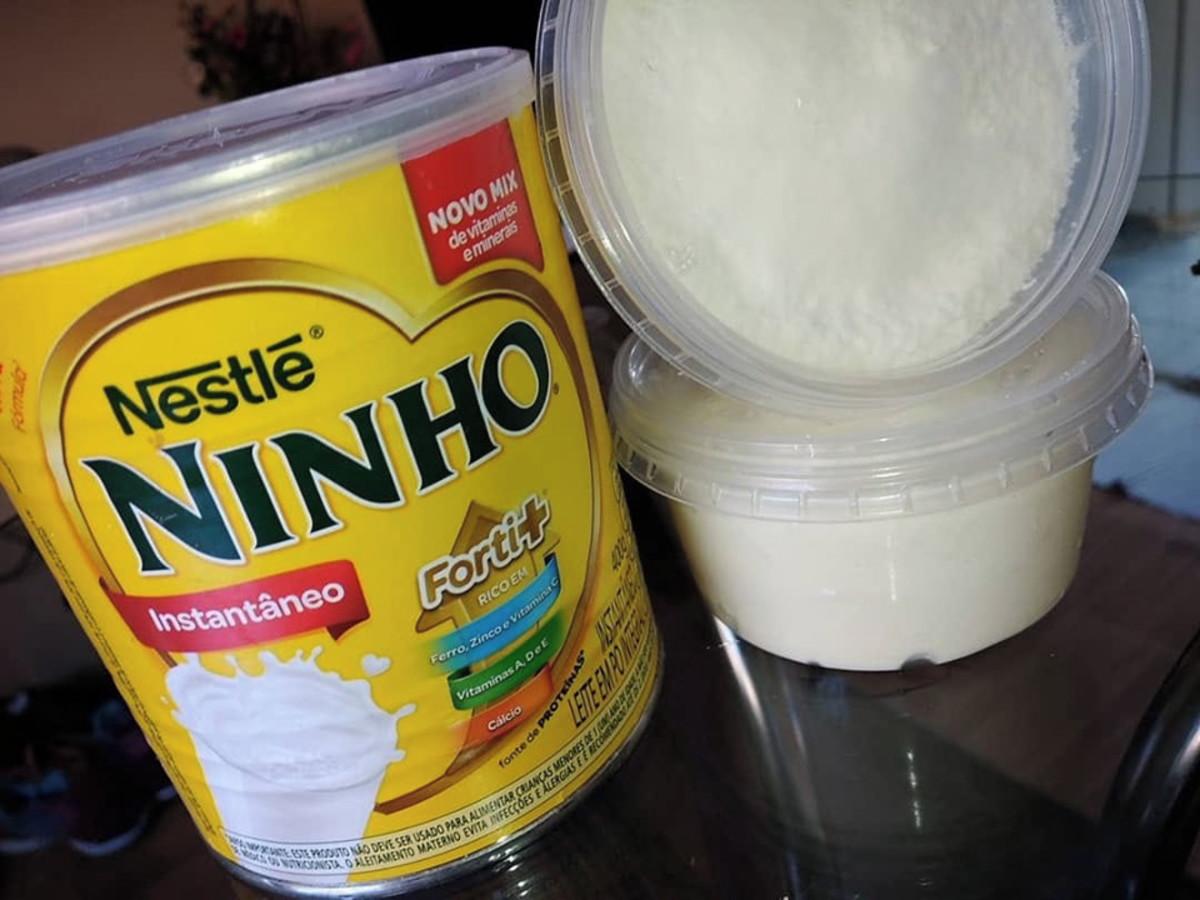 Receita de bolo de leite ninho no pote fácil