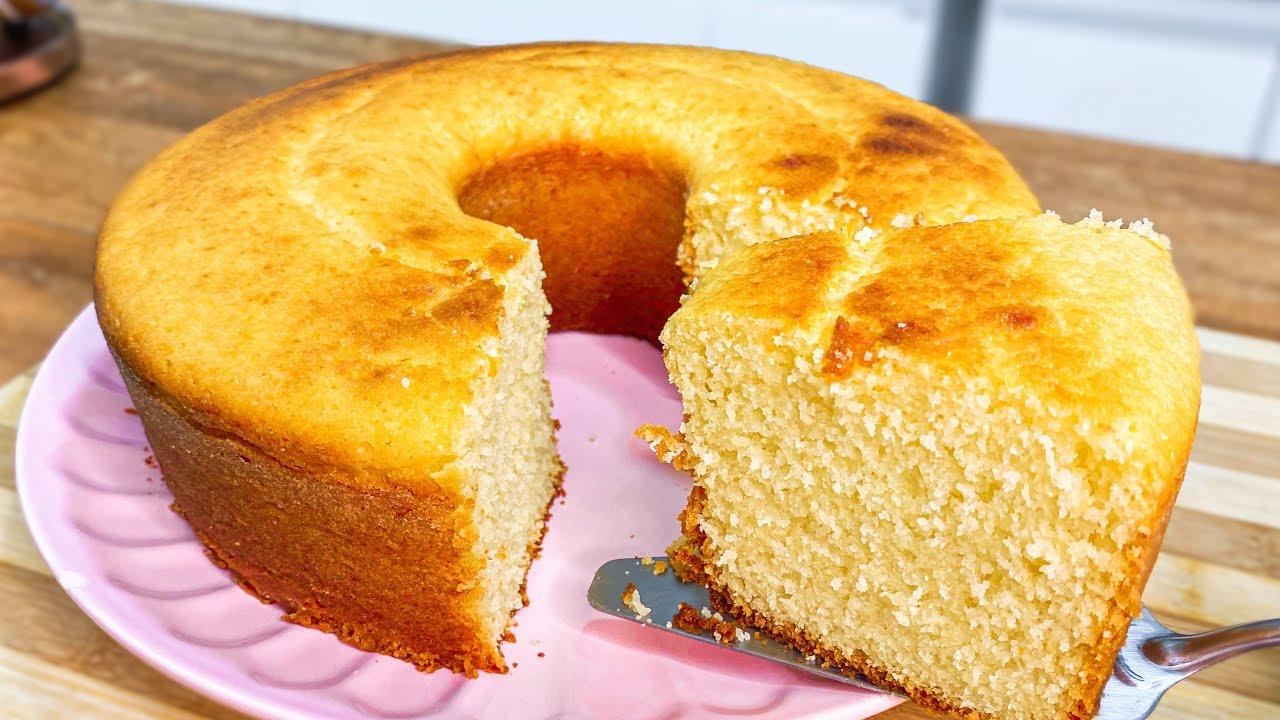 Receita de bolo de queijo de liquidificador super fácil e super fofo