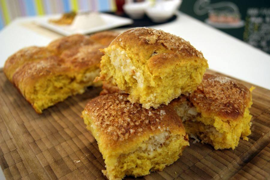 Receita de pão de abobora com coco simples