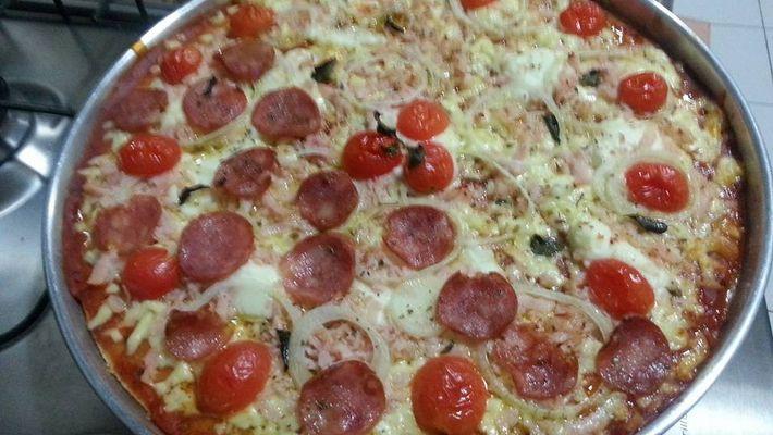 Receita de pizza de liquidificador integral caseira fácil