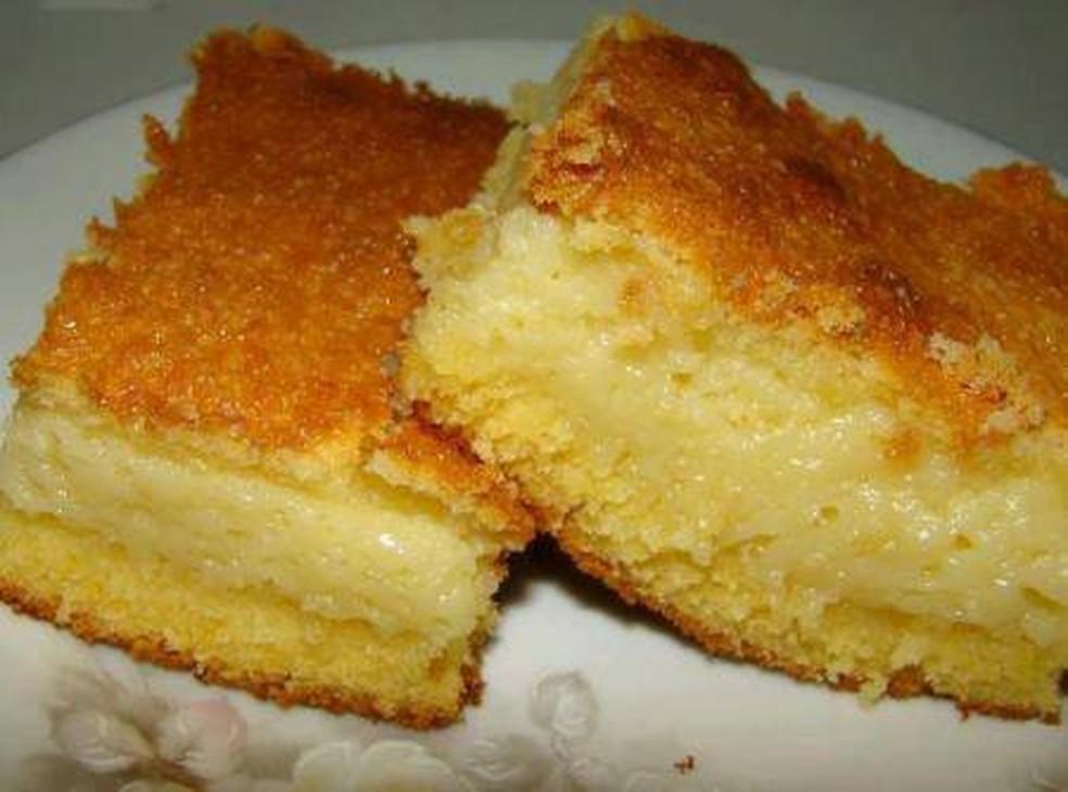Receita deliciosa de bolo cremoso de fubá