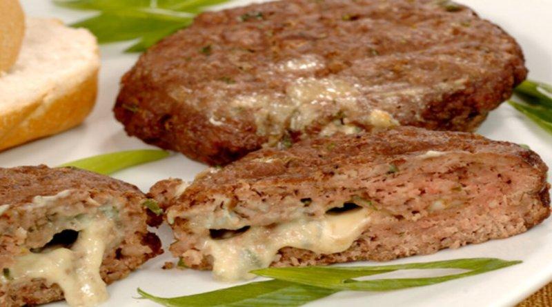 Receita deliciosa de hambúrguer recheado