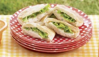 Receita mini-sanduíche de presunto