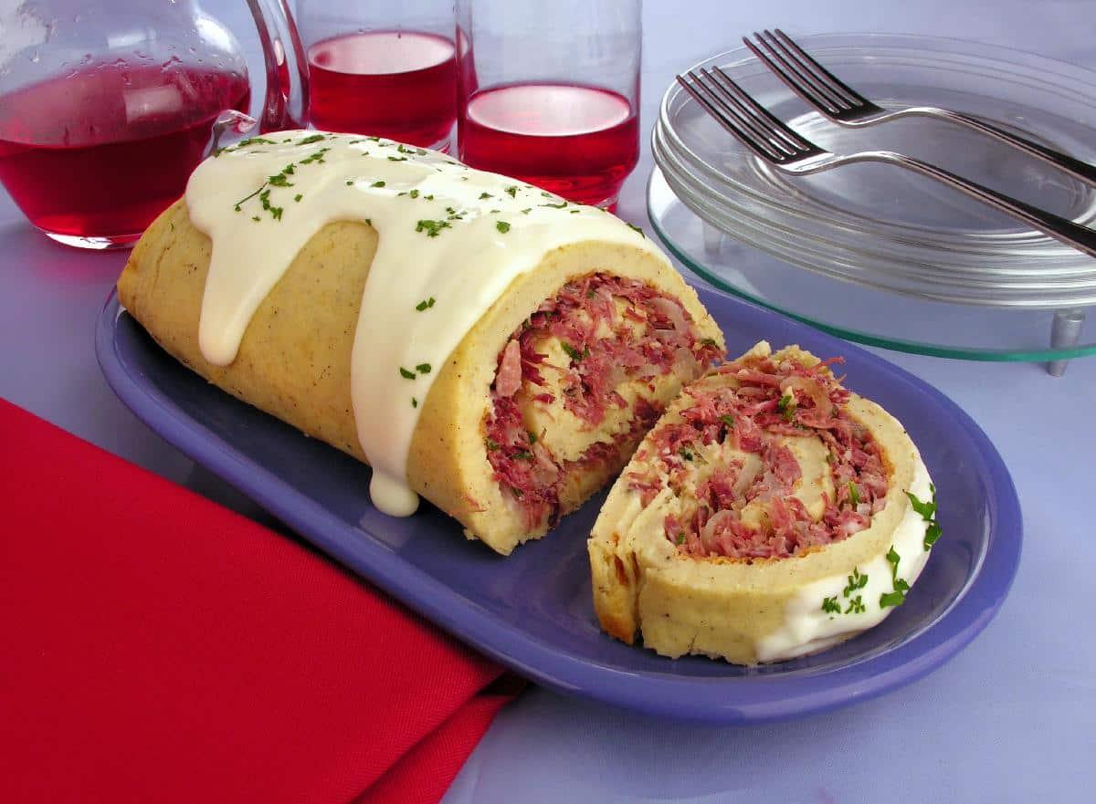 Rocambole de batata com carne seca imperdível pois é magnifico