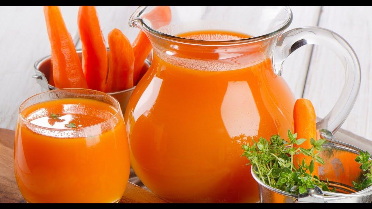 Suco de cenoura detox perfeito para nos manter com tudo em cima