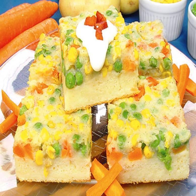 Torta aberta de legumes com toque todo especial