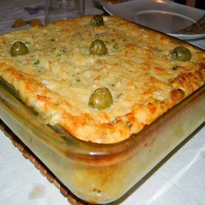 Torta de bacalhau gratinado com batata uma ótima pedida para o seu almoço