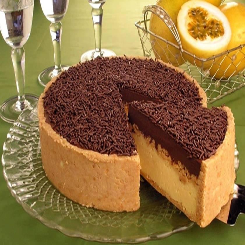 Torta de chocolate com maracujá irresistível