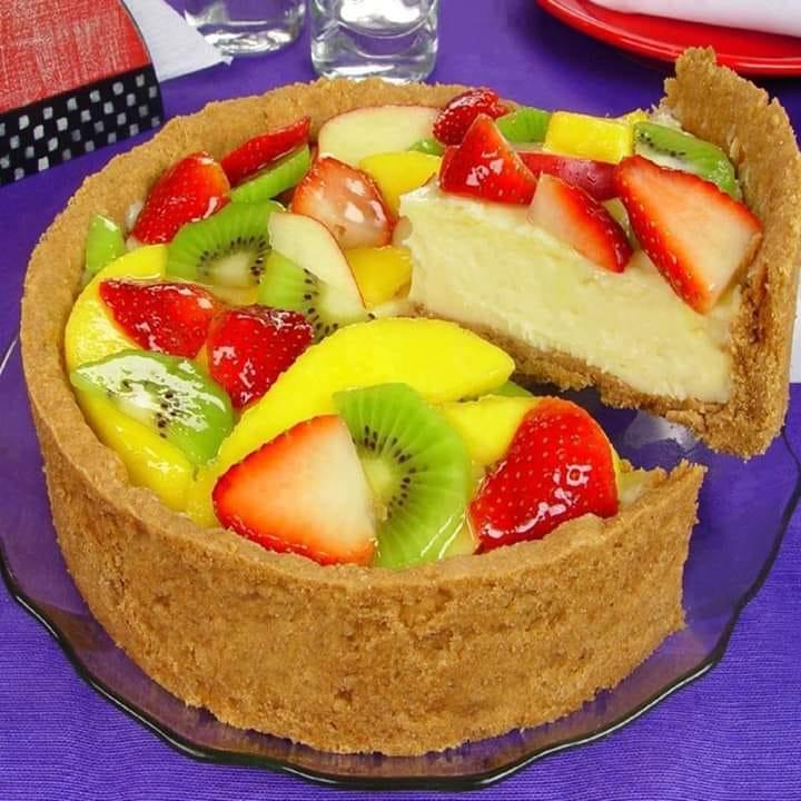 Torta de frutas caseira