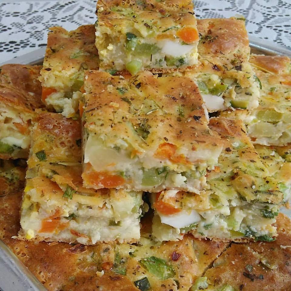 Torta de legumes simples e saborosa