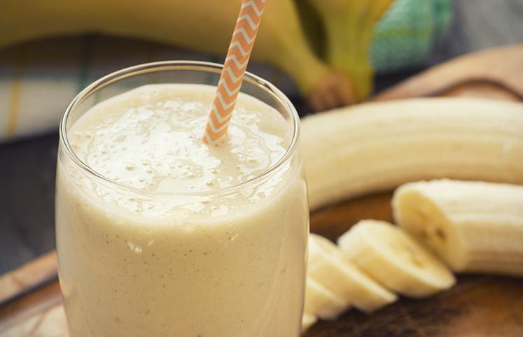 Vitamina de banana em menos de 5 minutos