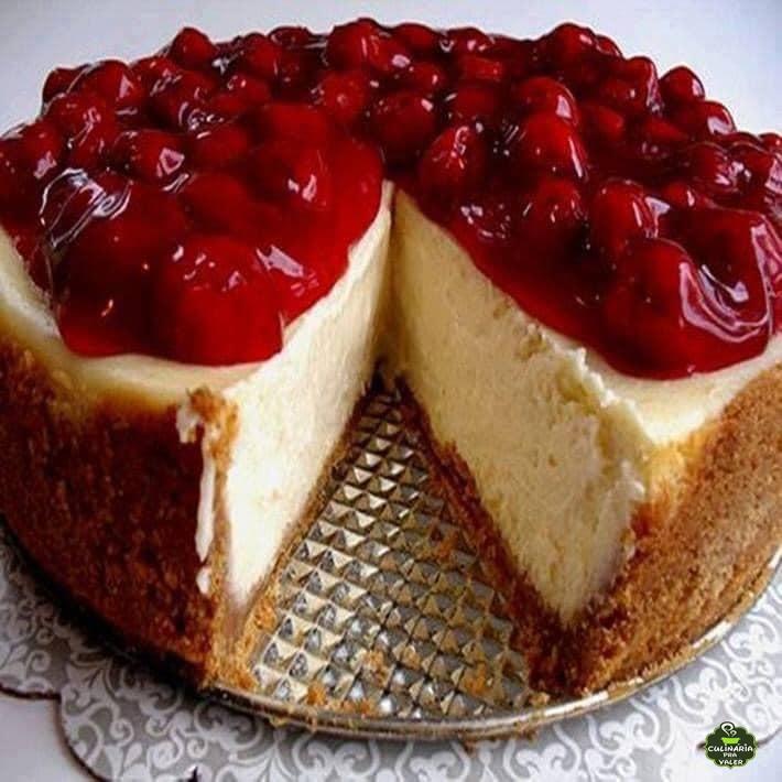 Cheesecake americana tradicional um espetáculo