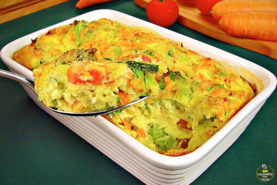 Omelete de forno com legumes divino