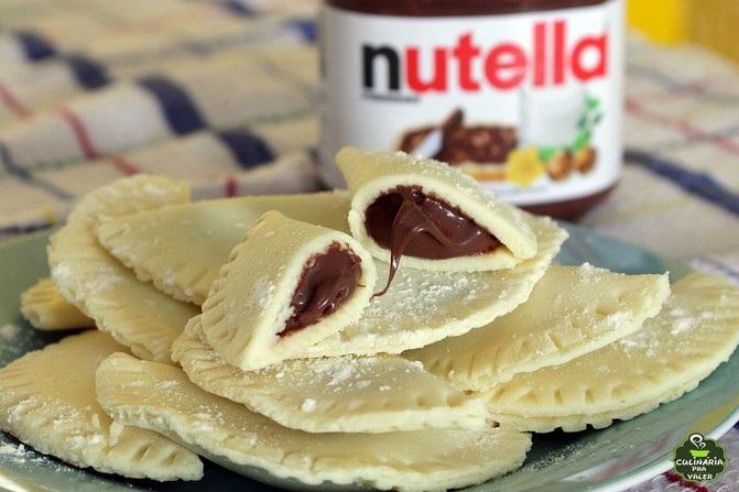 Patel de leite ninho com nutella fácil de fazer com pouquíssimos ingredientes