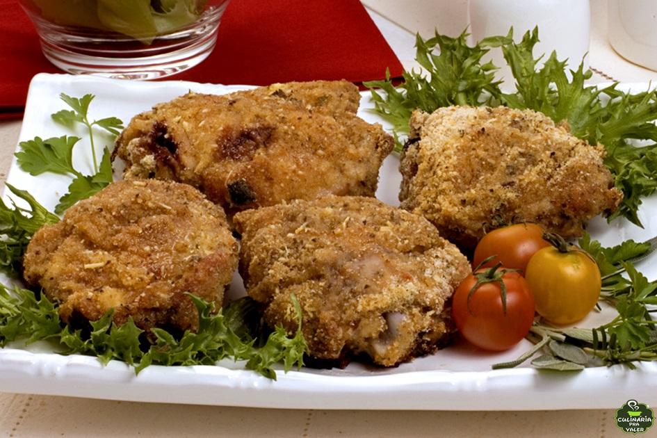 Sobrecoxa de frango crocante super delicioso