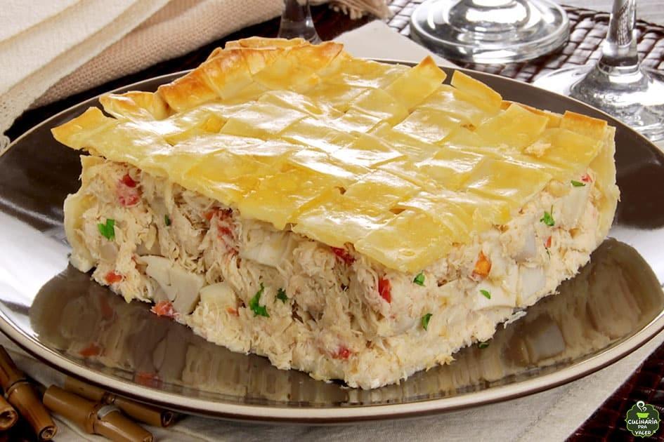 Torta fácil de massa de pastel deliciosa demais
