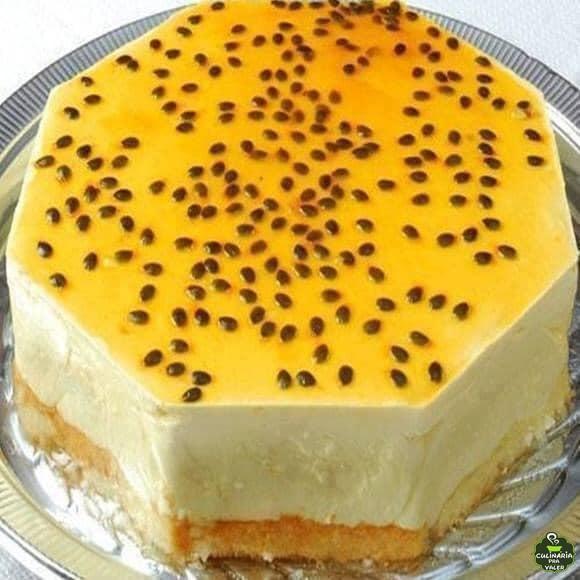 Torta gelada de maracujá uma delicia