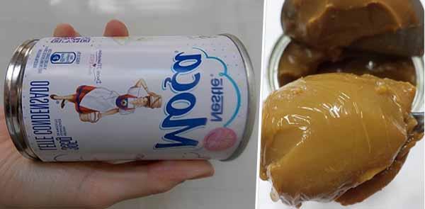 Receita de doce de leite cozido - caixinha de leite condensado