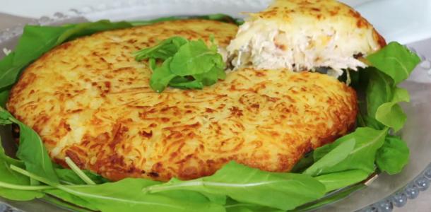 Batata rosti com peru e cream cheese uma delícia