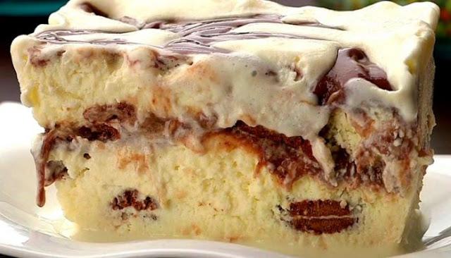Torta sorvete de chocolate, receita com brigadeiro prática e saborosa