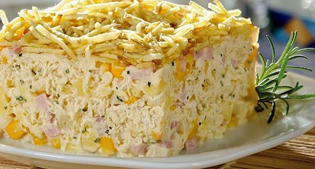 Torta galinha escandalosa – uma receita deliciosa