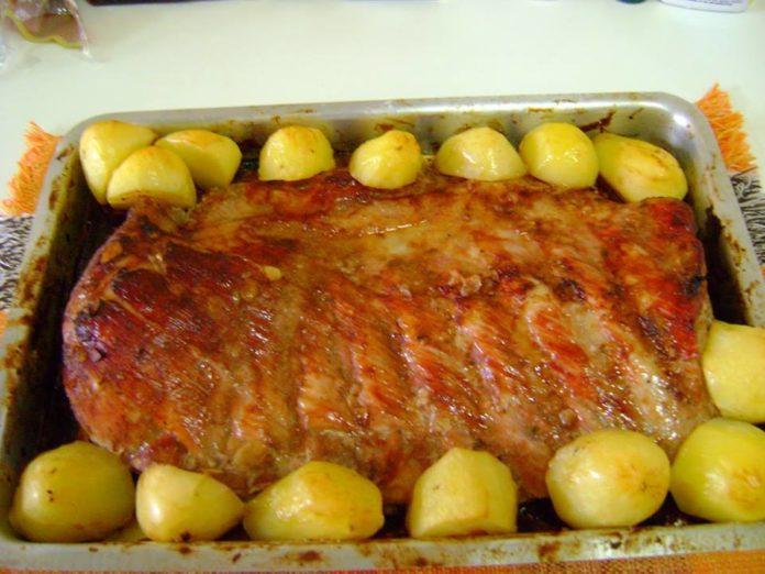 Receita de costelinha de porco assada no forno sensacional