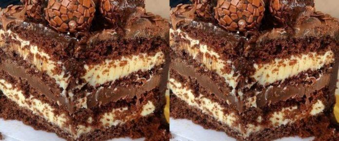Bolo gelado de prestígio. o bolo que faz o maior sucesso