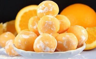 Trufas de laranja deliciosas