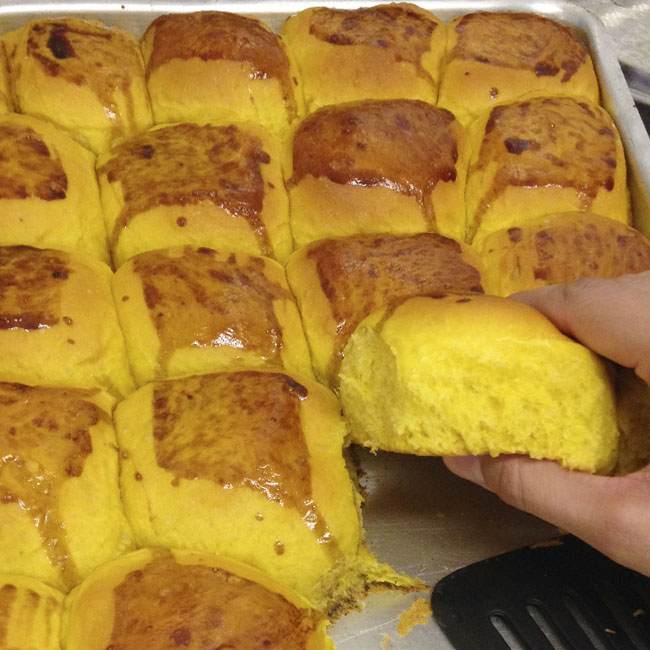 Pão de abóbora fofinho delicioso