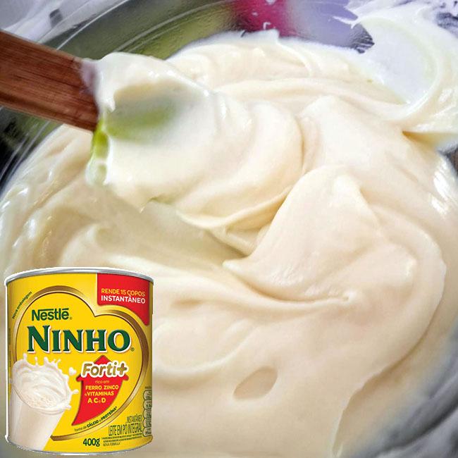 Recheio de leite ninho para bolo de aniversário delicioso