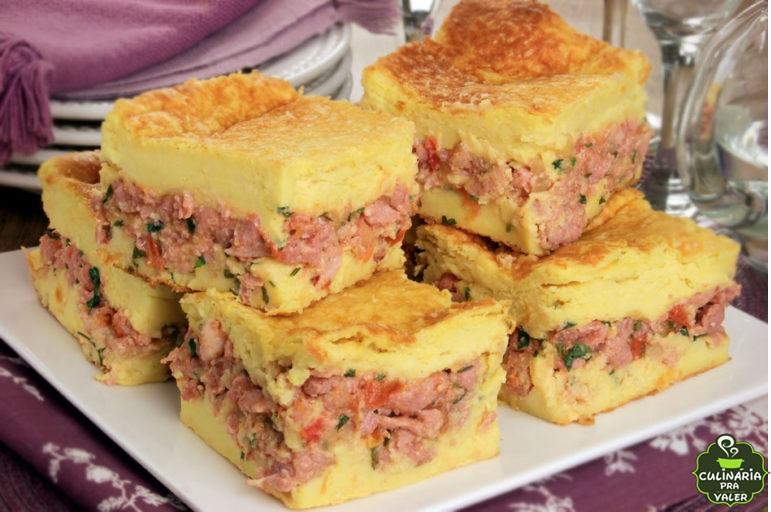 Torta de linguiça e mandioquinha, sabor irresistível