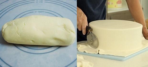 Pasta de leite em pó para bolo