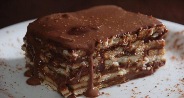 Pavê de chocolate delicioso