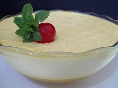Sobremesa de abacaxi uma delícia