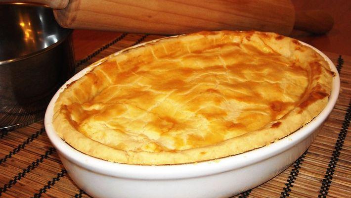Torta de palmito com massa podre fácil e prático