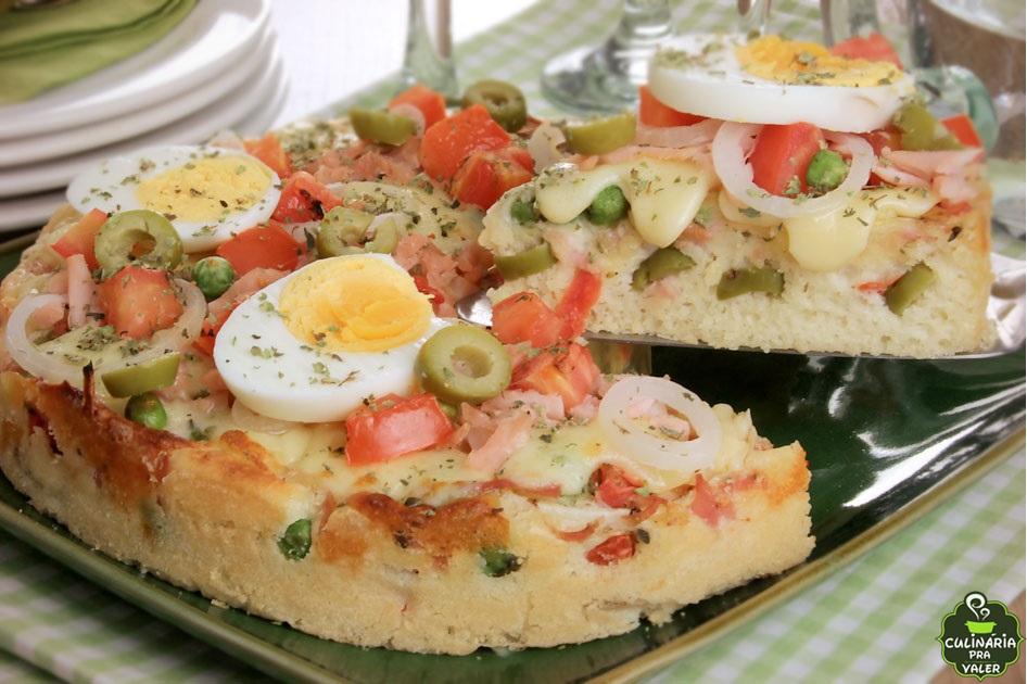 Torta-pizza portuguesa uma delícia